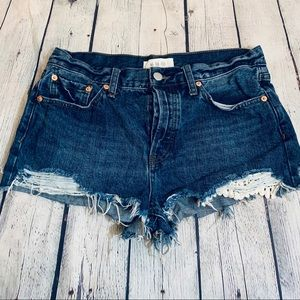 We the Free  | Distressed Denim Shorts Size 29